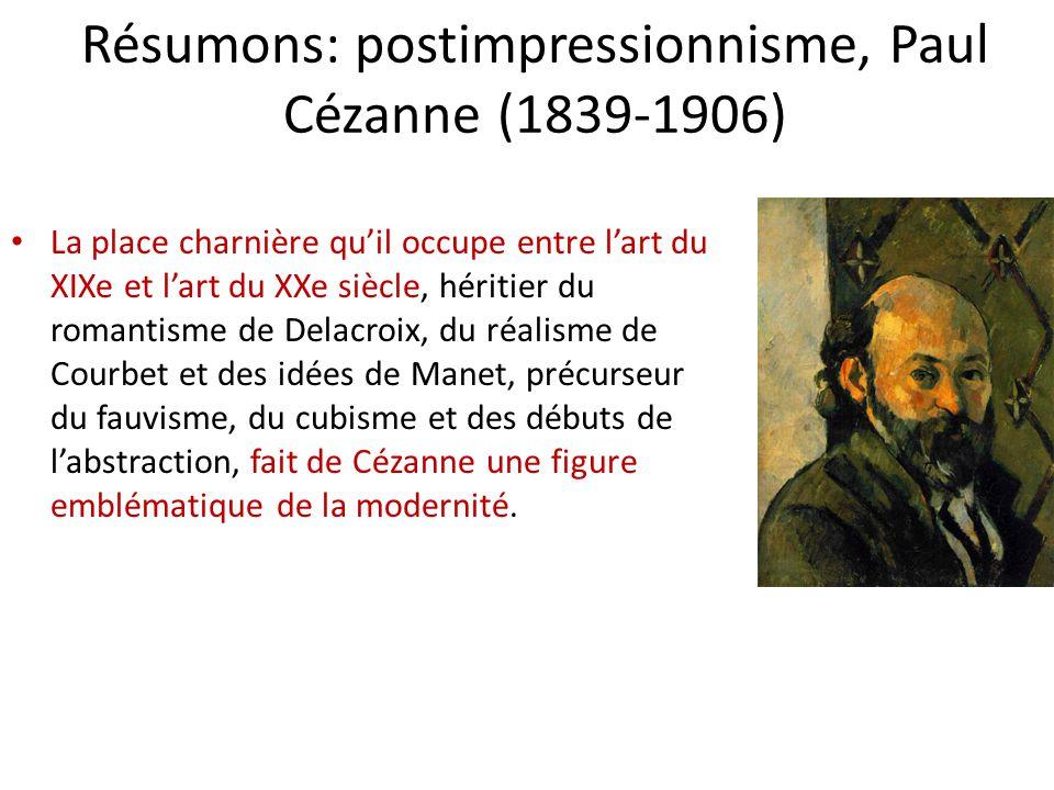 Résumons: postimpressionnisme, Paul Cézanne (1839-1906)
