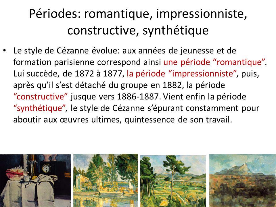 Périodes: romantique, impressionniste, constructive, synthétique