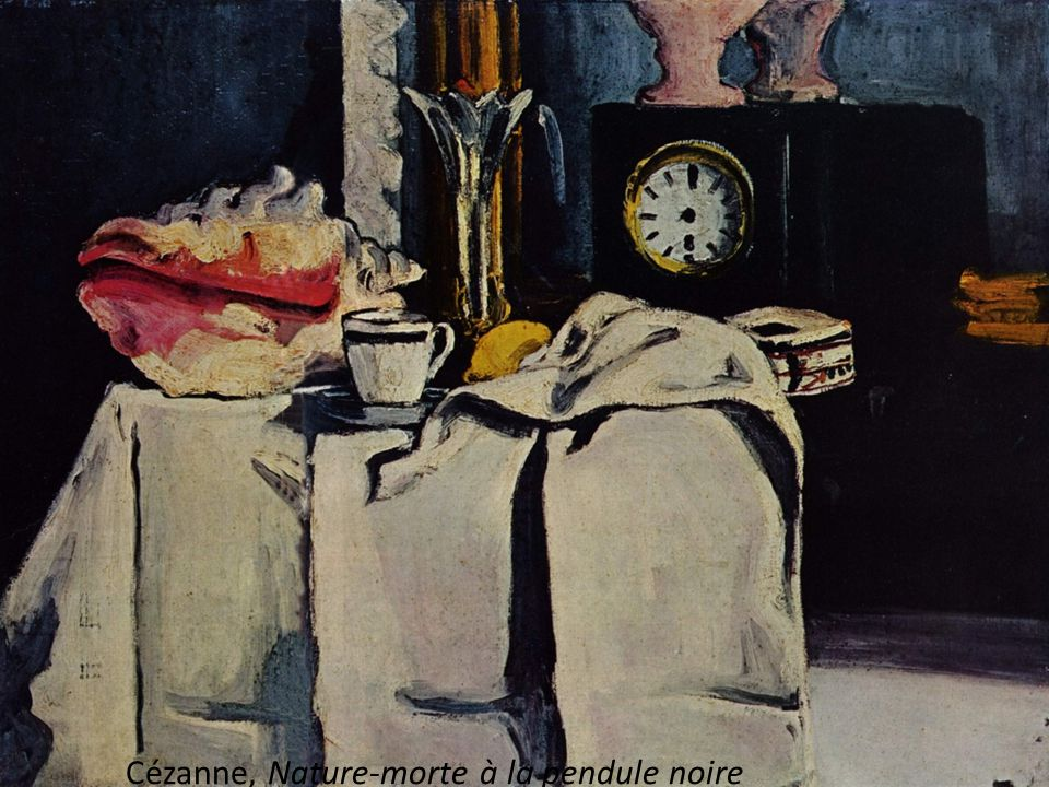 Cézanne, Nature-morte à la pendule noire