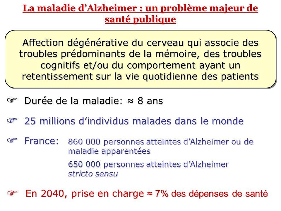 La maladie d'Alzheimer : un problème majeur de santé publique