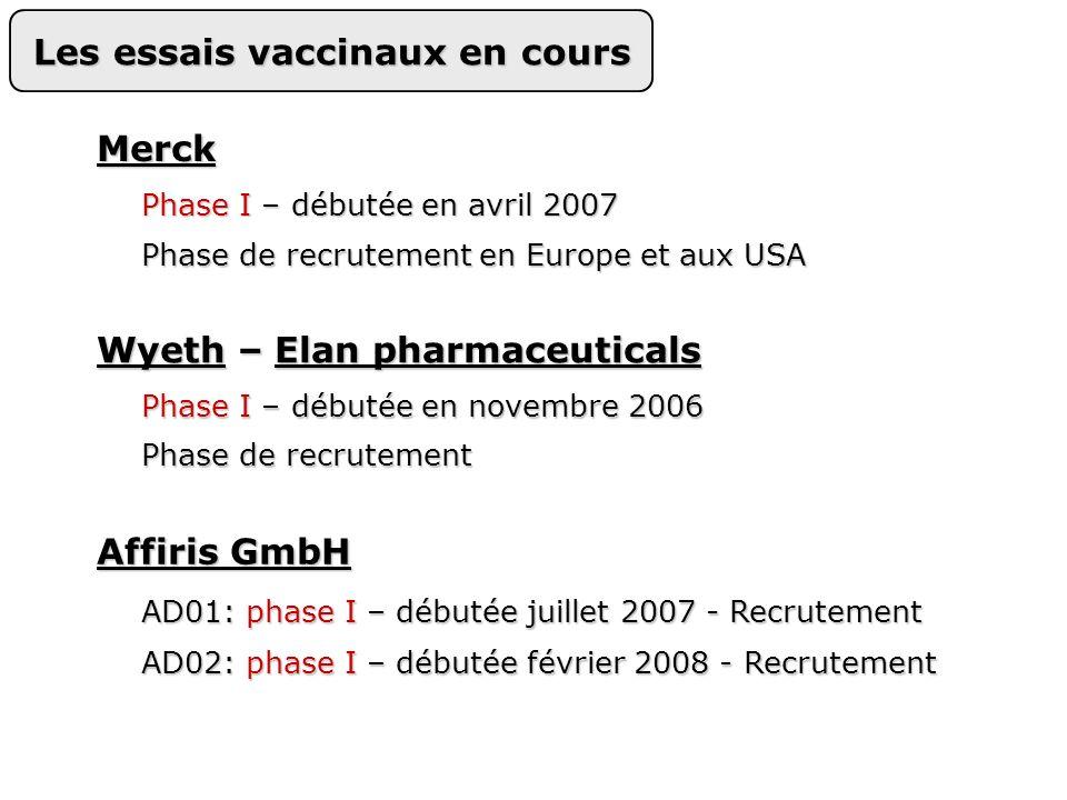 Les essais vaccinaux en cours