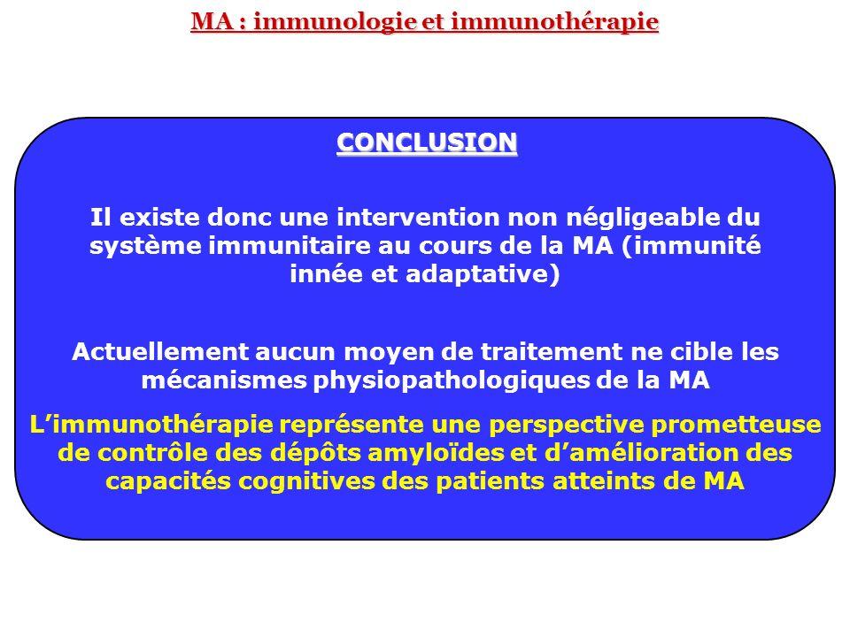 MA : immunologie et immunothérapie