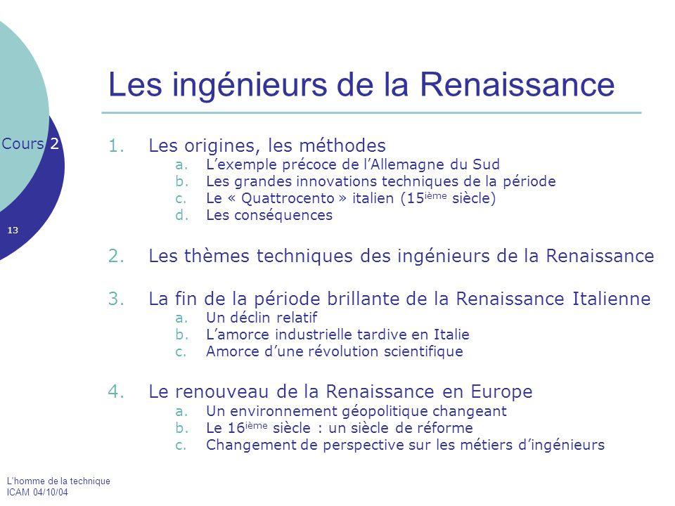 Les ingénieurs de la Renaissance