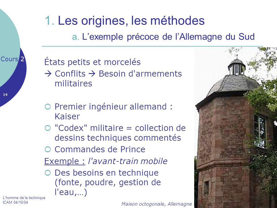 1. Les origines, les méthodes. a