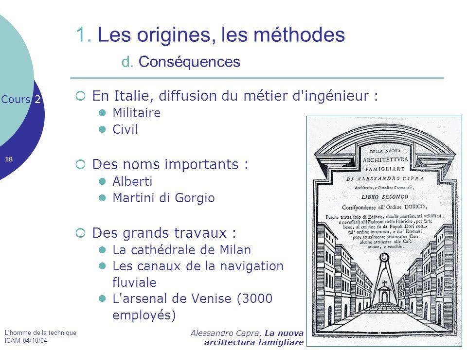 1. Les origines, les méthodes d. Conséquences