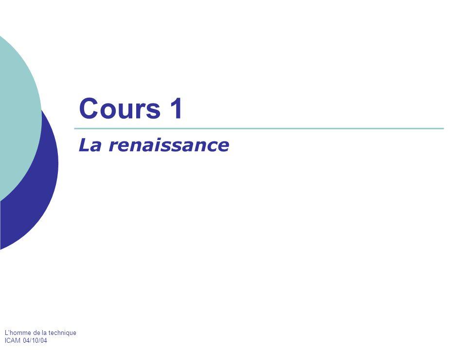 Cours 1 La renaissance PAS liste de dates et d évènements