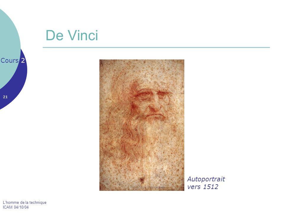 De Vinci Cours 2 Autoportrait vers 1512