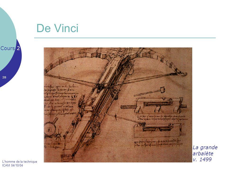 De Vinci Cours 2 La grande arbalète v. 1499