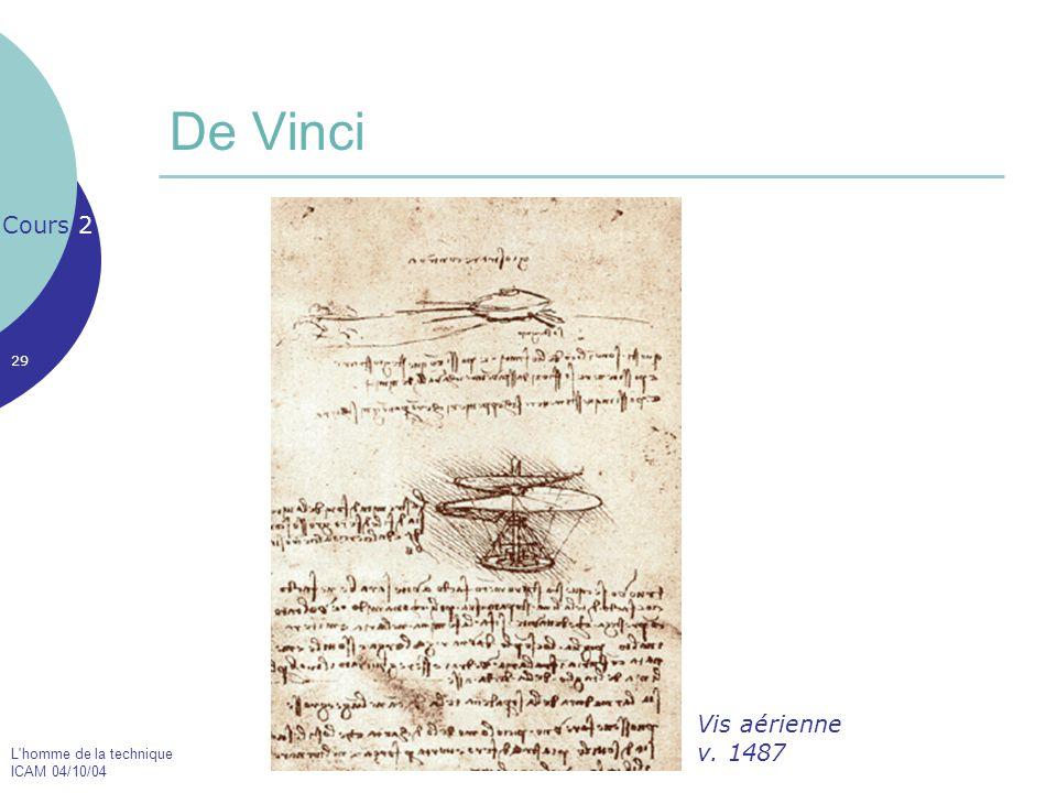 De Vinci Cours 2 Vis aérienne v. 1487