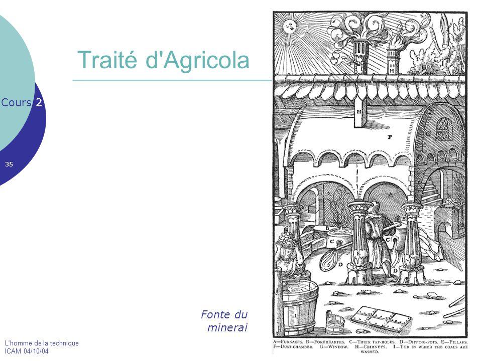 Traité d Agricola Cours 2 Fonte du minerai
