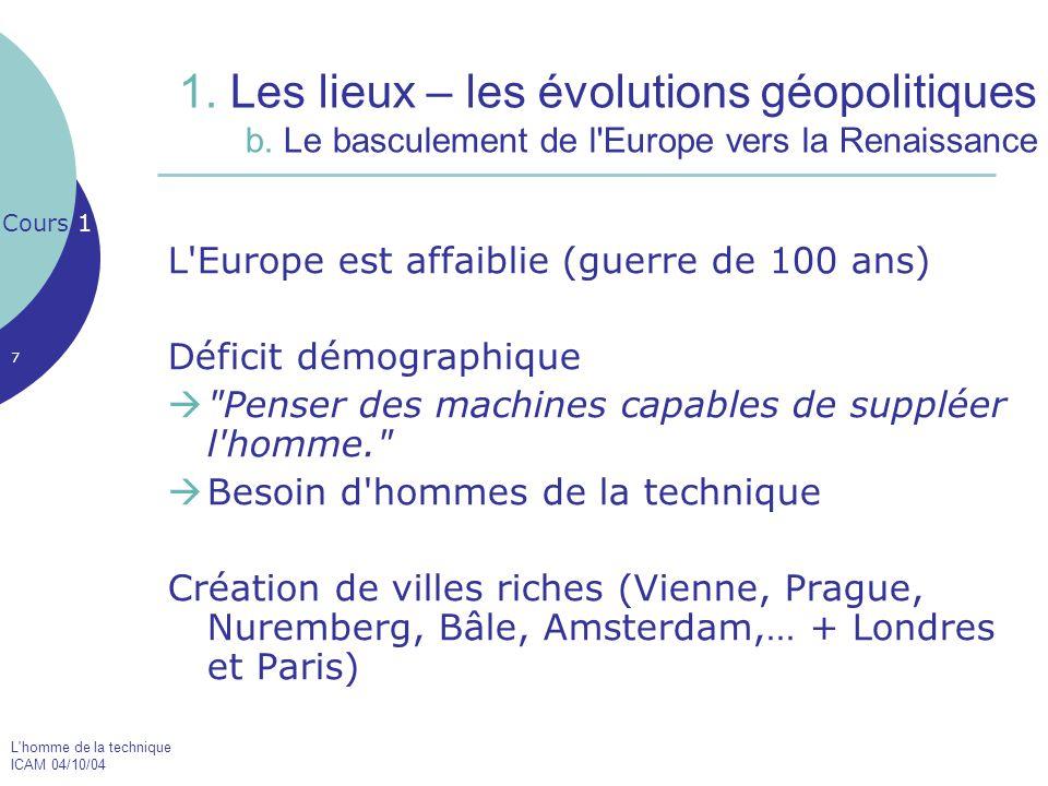 1. Les lieux – les évolutions géopolitiques b