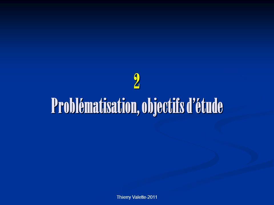 2 Problématisation, objectifs d'étude