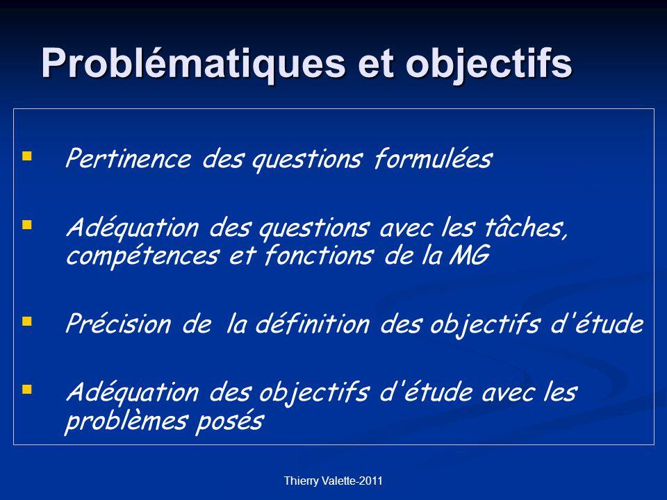 Problématiques et objectifs