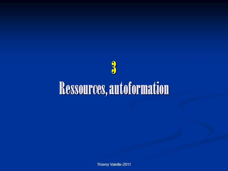 3 Ressources, autoformation