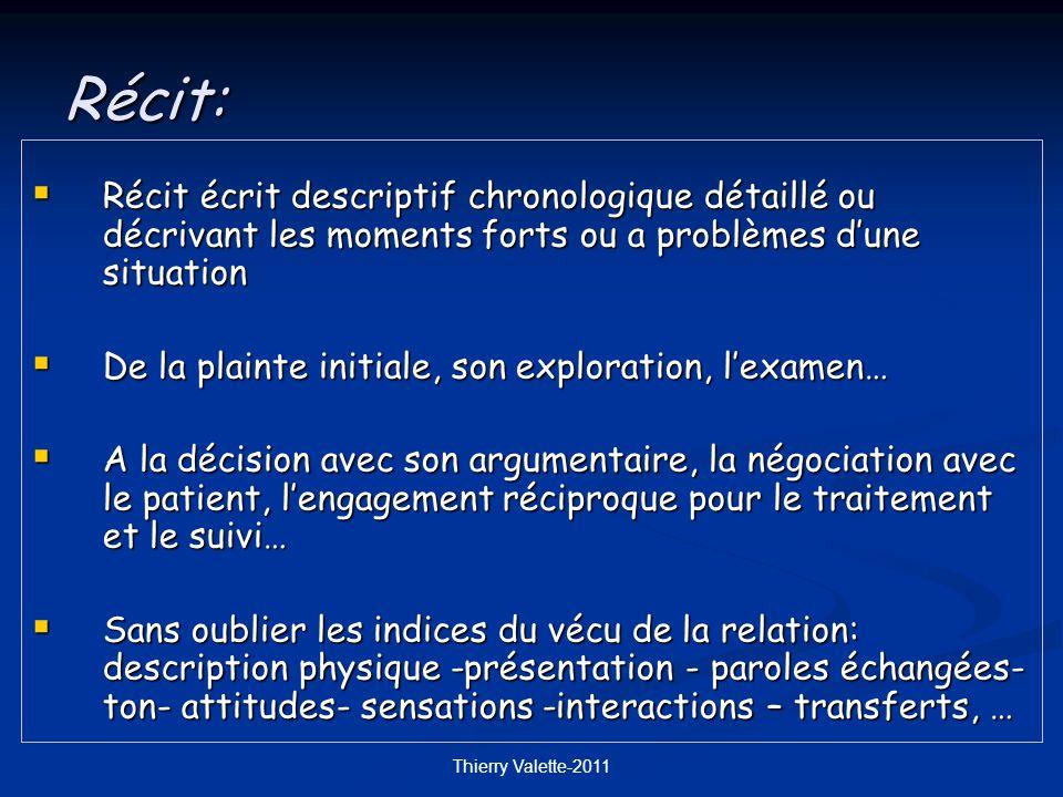 Récit: Récit écrit descriptif chronologique détaillé ou décrivant les moments forts ou a problèmes d'une situation.