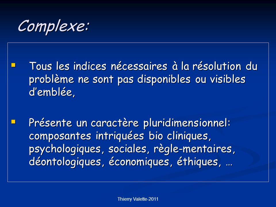 Complexe: Tous les indices nécessaires à la résolution du problème ne sont pas disponibles ou visibles d'emblée,