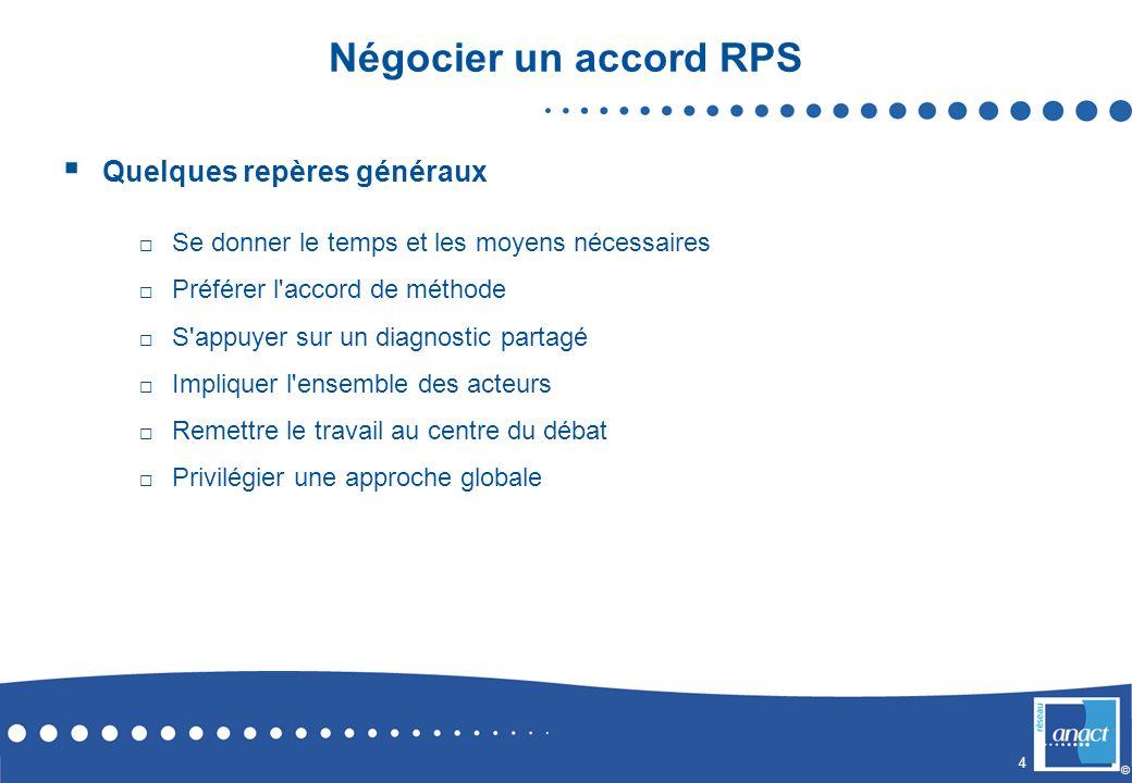 Négocier un accord RPS Quelques repères généraux