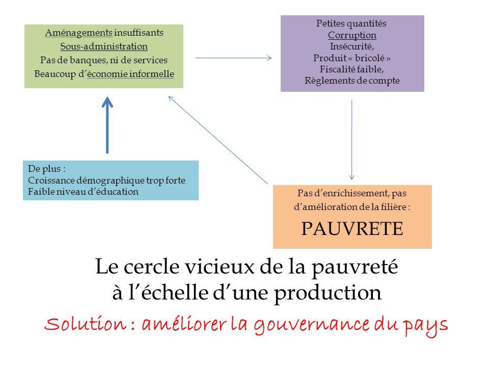 Le cercle vicieux de la pauvreté à l'échelle d'une production