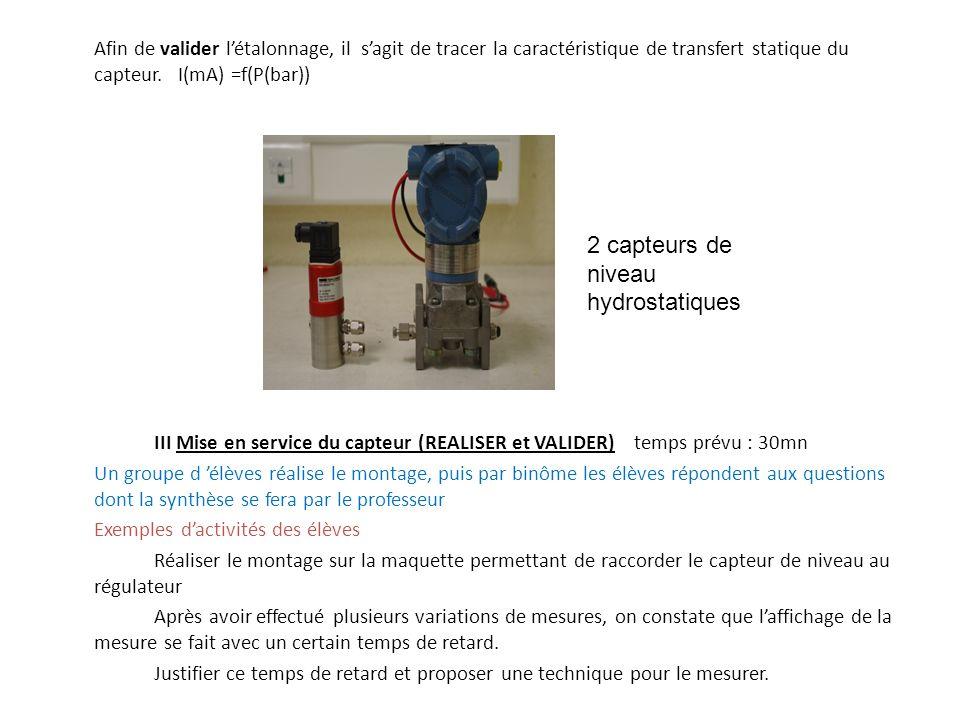 2 capteurs de niveau hydrostatiques