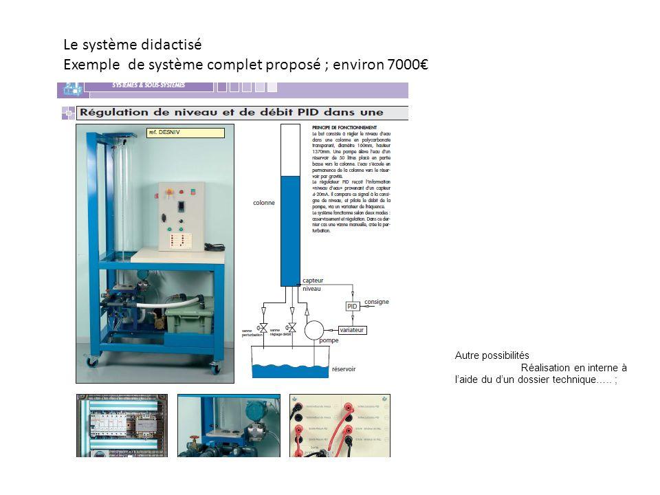 Exemple de système complet proposé ; environ 7000€
