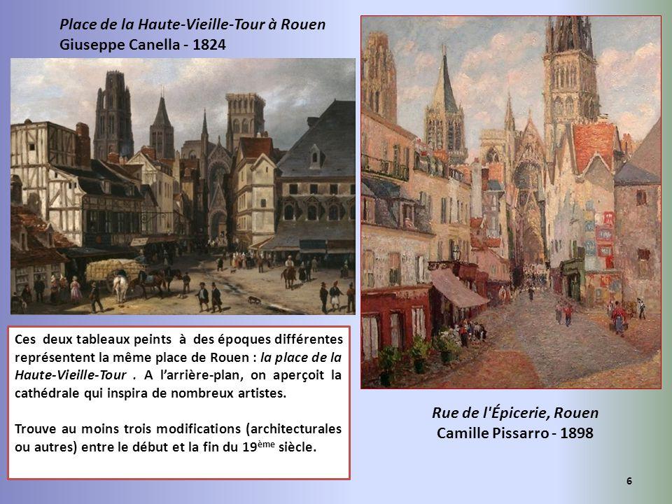 Rue de l Épicerie, Rouen Camille Pissarro - 1898
