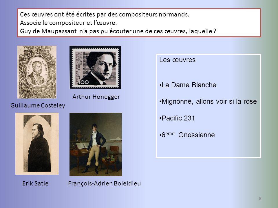 Ces œuvres ont été écrites par des compositeurs normands.
