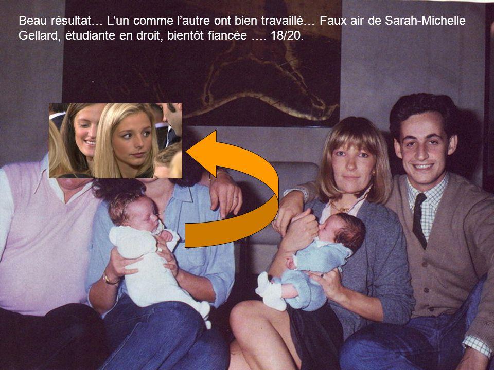 Beau résultat… L'un comme l'autre ont bien travaillé… Faux air de Sarah-Michelle Gellard, étudiante en droit, bientôt fiancée ….