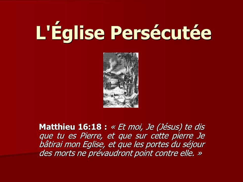 L Église Persécutée