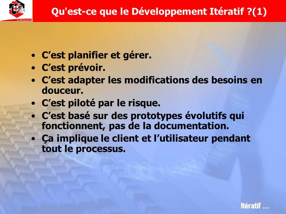 Qu est-ce que le Développement Itératif (1)