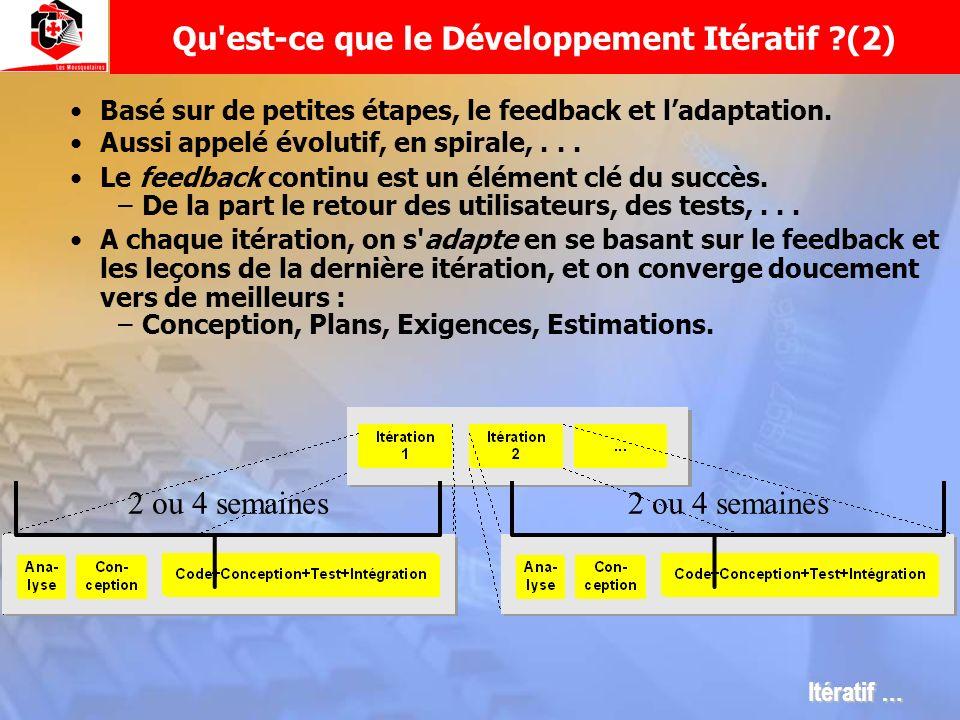 Qu est-ce que le Développement Itératif (2)