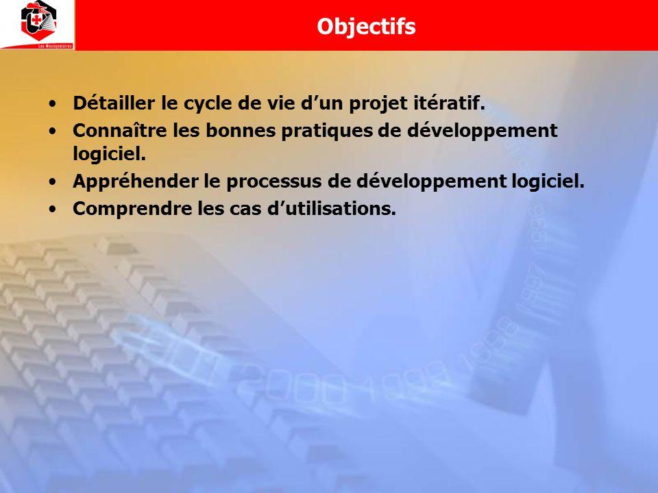Objectifs Détailler le cycle de vie d'un projet itératif.