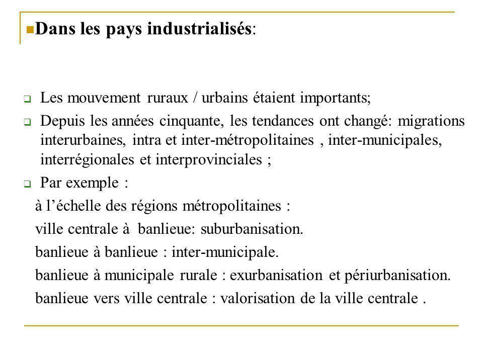 Dans les pays industrialisés: