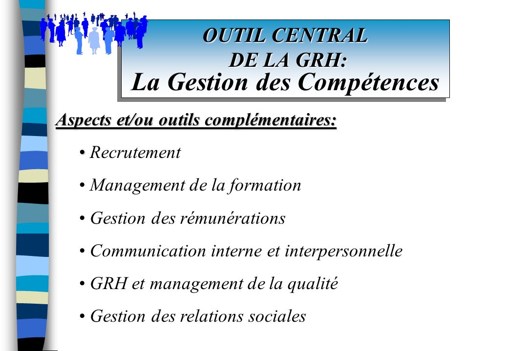 OUTIL CENTRAL DE LA GRH: