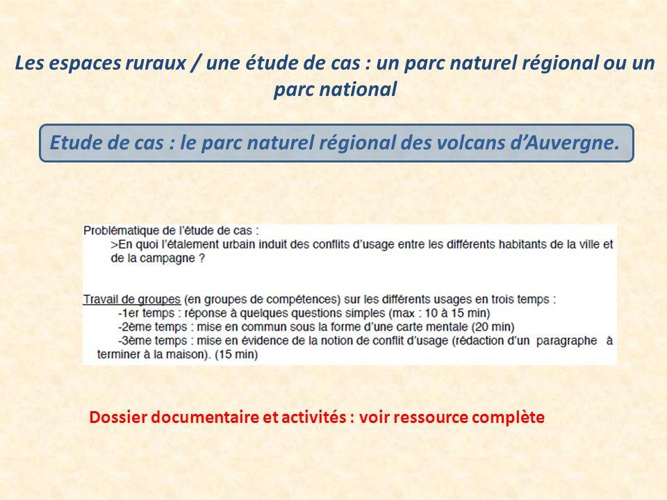 Etude de cas : le parc naturel régional des volcans d'Auvergne.