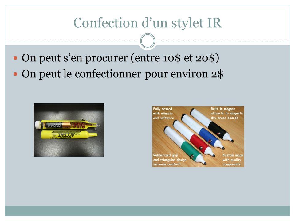 Confection d'un stylet IR
