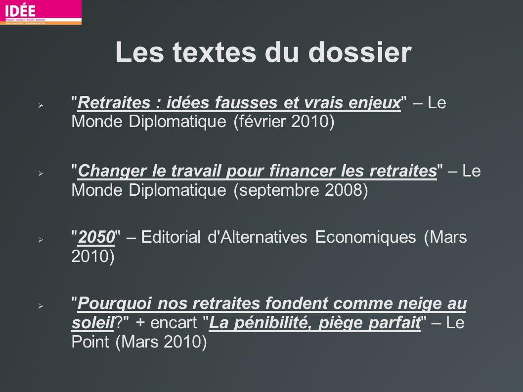 Les textes du dossier Retraites : idées fausses et vrais enjeux – Le Monde Diplomatique (février 2010)