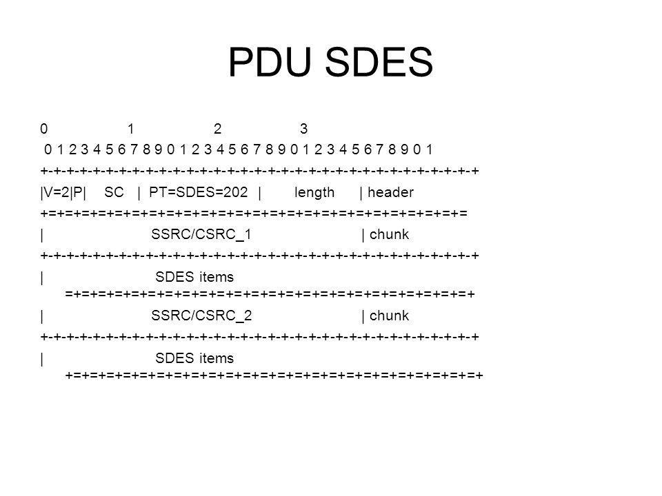 PDU SDES 0 1 2 3. 0 1 2 3 4 5 6 7 8 9 0 1 2 3 4 5 6 7 8 9 0 1 2 3 4 5 6 7 8 9 0 1.