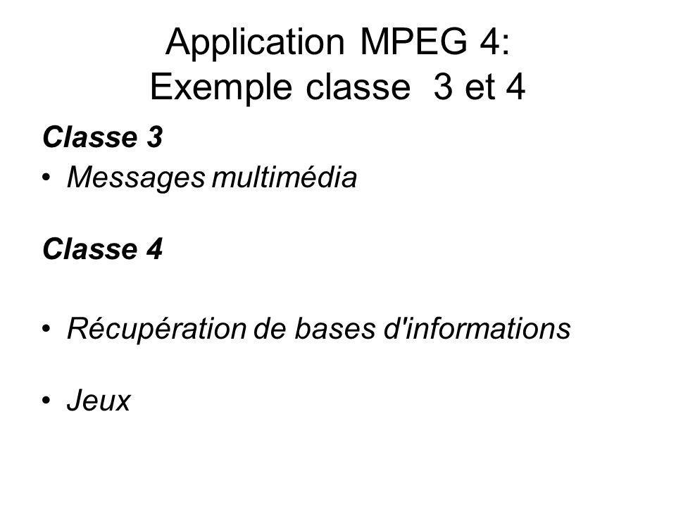 Application MPEG 4: Exemple classe 3 et 4