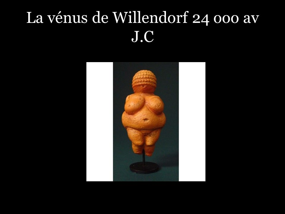 La vénus de Willendorf 24 ooo av J.C
