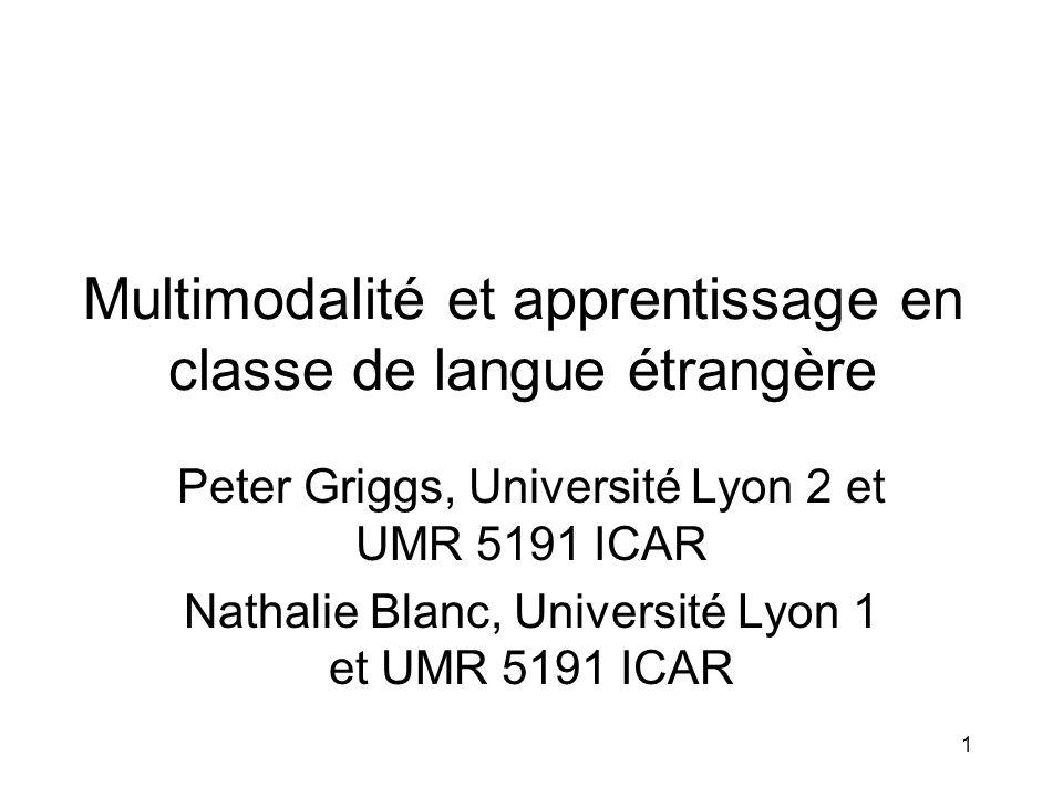 Multimodalité et apprentissage en classe de langue étrangère