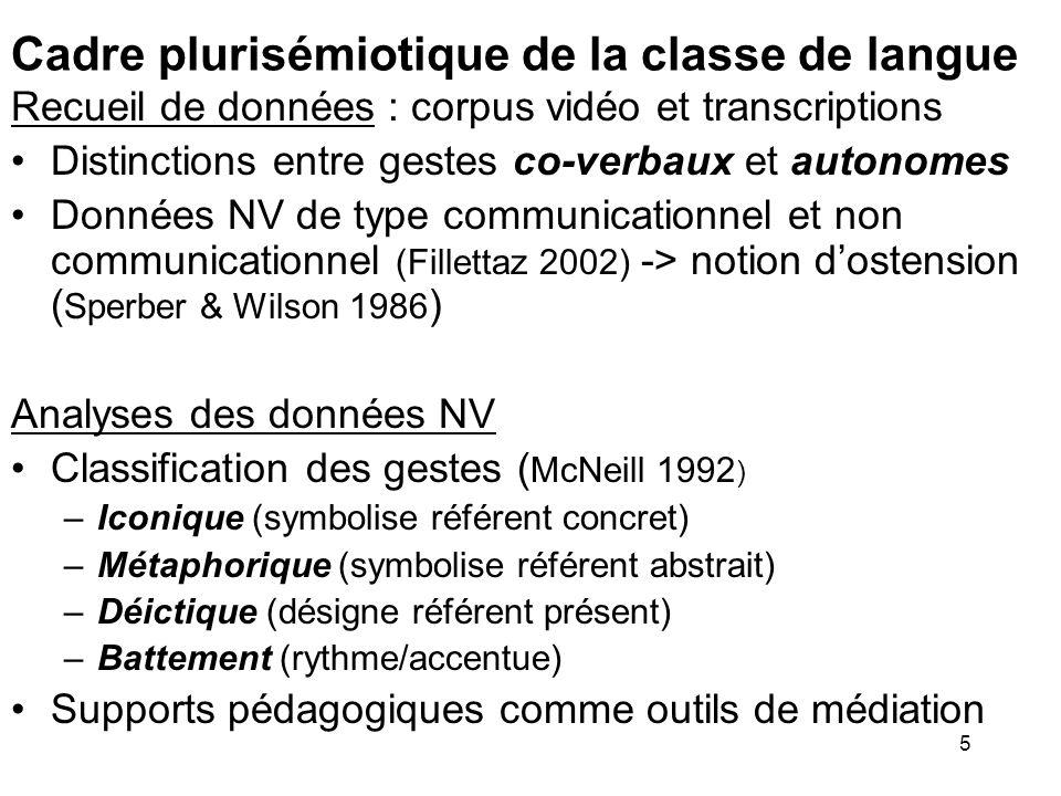 Cadre plurisémiotique de la classe de langue