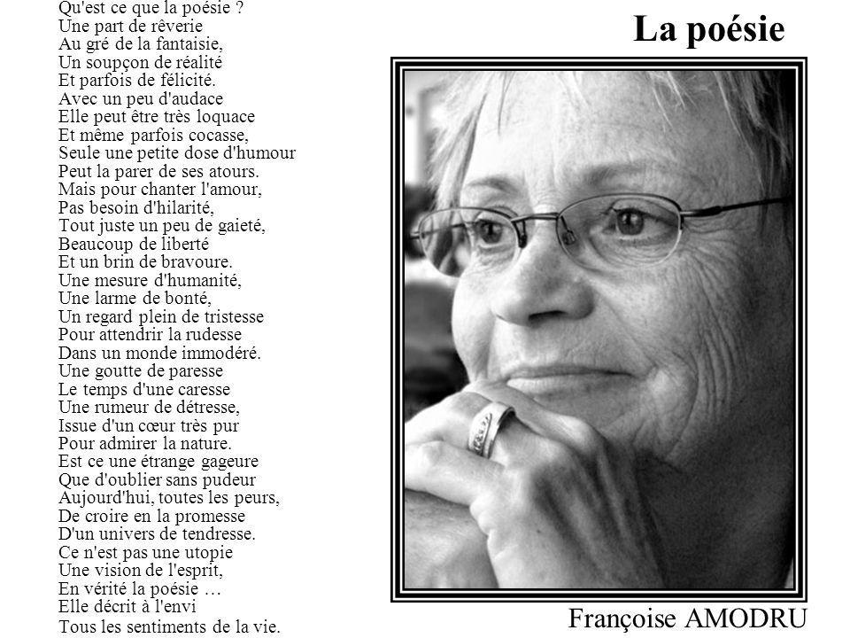 La poésie Françoise AMODRU