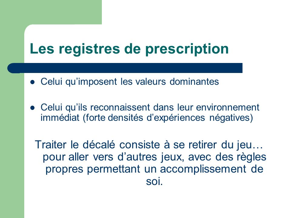 Les registres de prescription