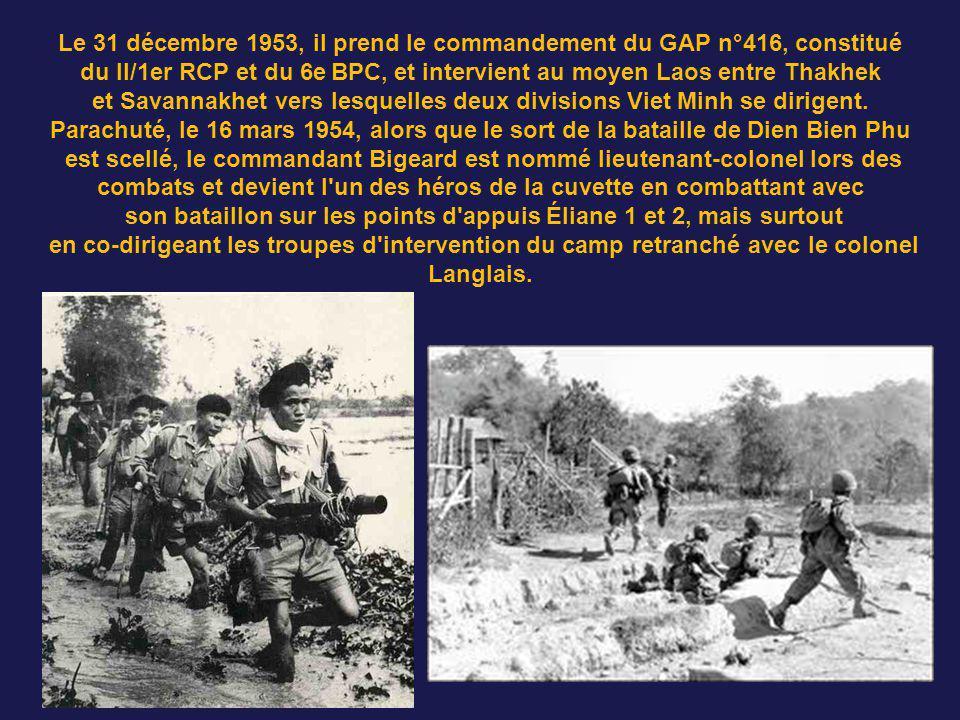 Le 31 décembre 1953, il prend le commandement du GAP n°416, constitué