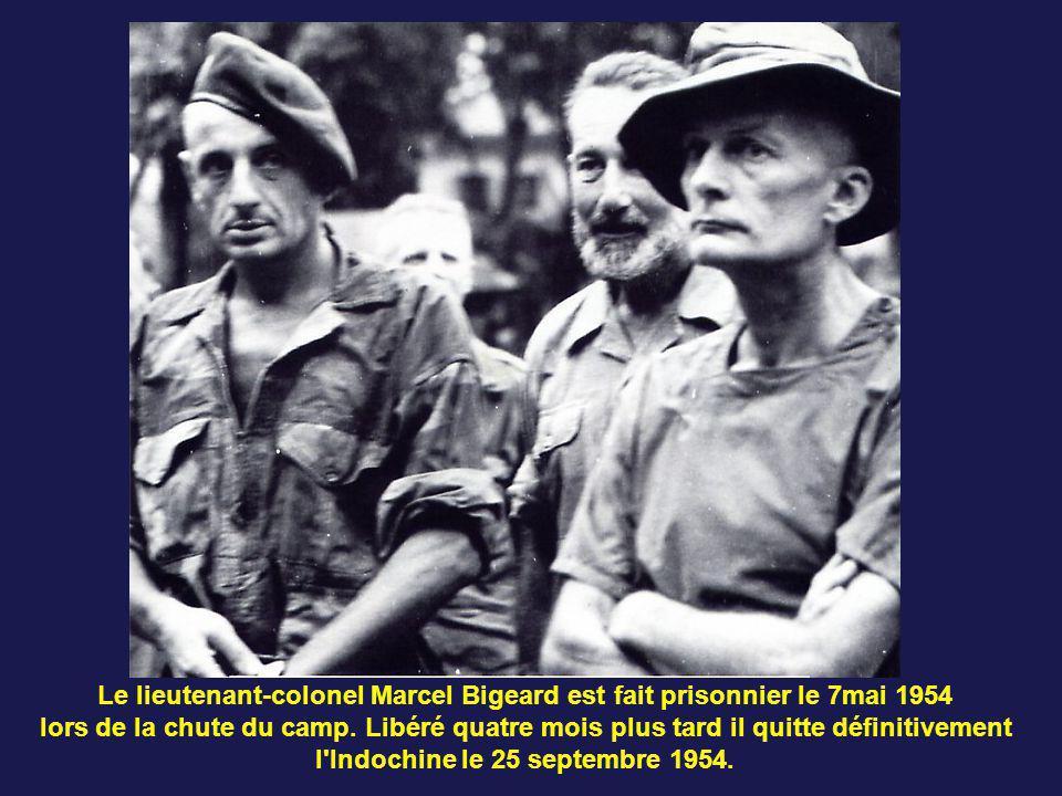 Le lieutenant-colonel Marcel Bigeard est fait prisonnier le 7mai 1954