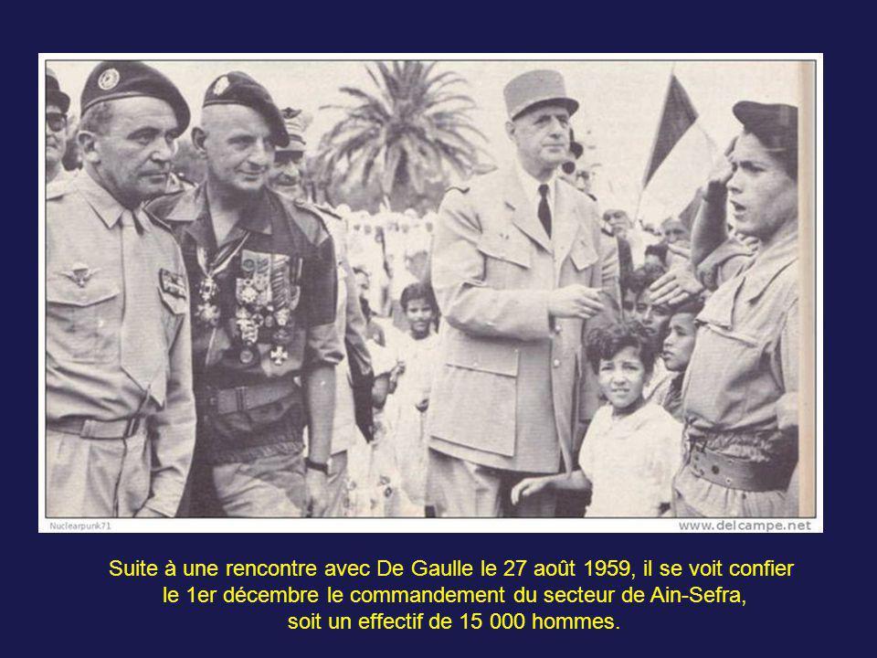 le 1er décembre le commandement du secteur de Ain-Sefra,
