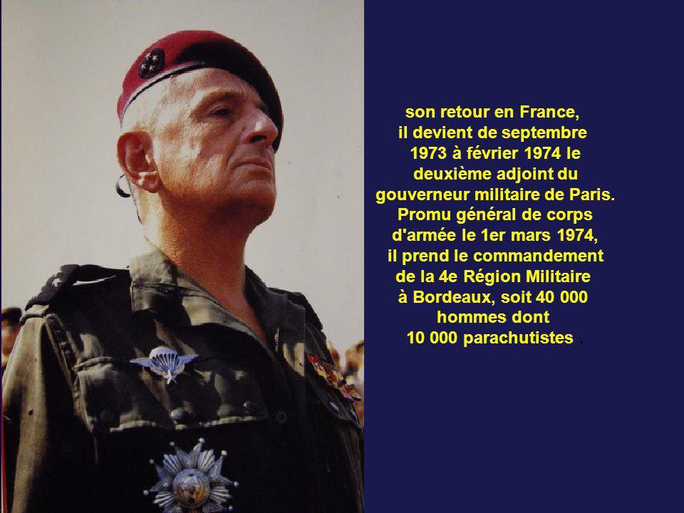 il devient de septembre 1973 à février 1974 le deuxième adjoint du