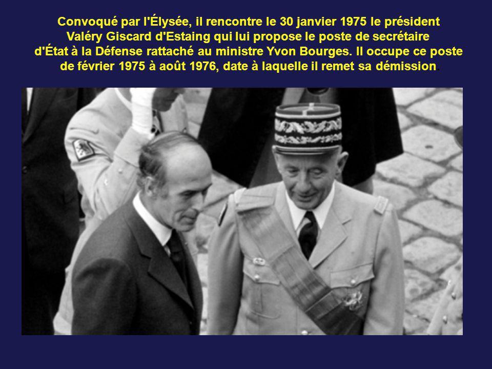 Convoqué par l Élysée, il rencontre le 30 janvier 1975 le président