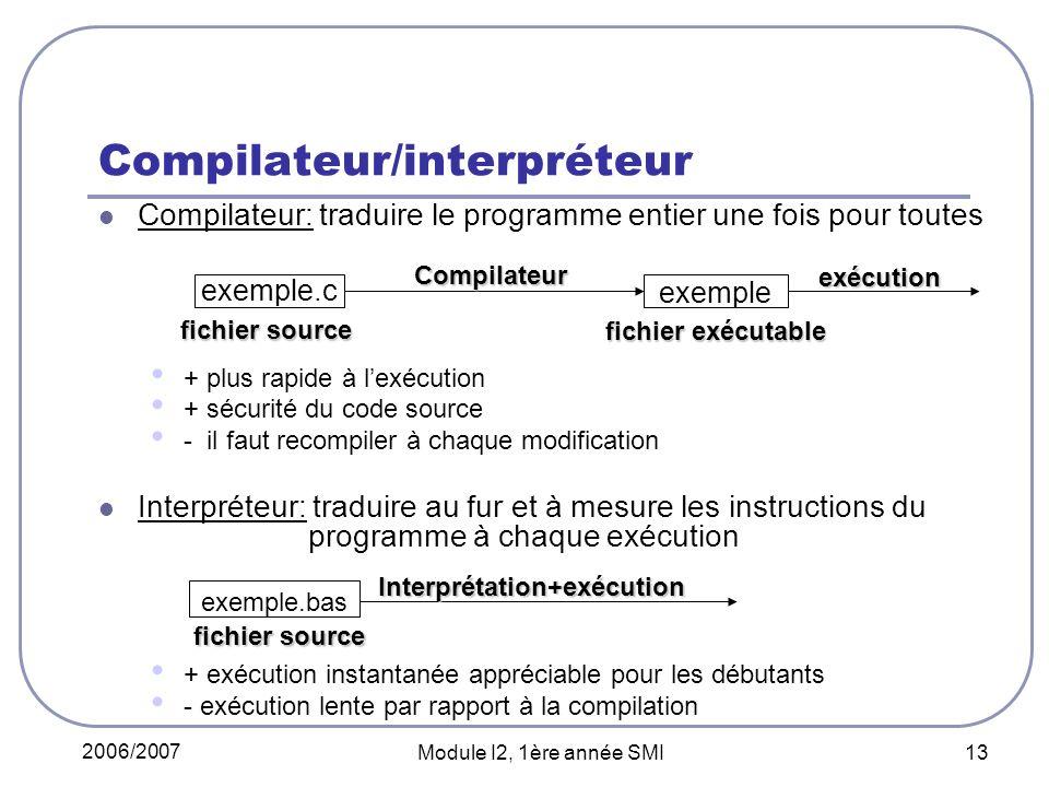 Compilateur/interpréteur