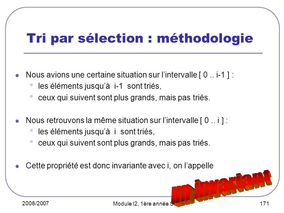 Tri par sélection : méthodologie